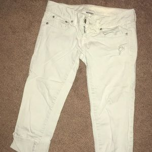 Very light/ white American eagle capris